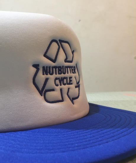 NUTBUTTER SYCLE MESH HAT ブルーxホワイト