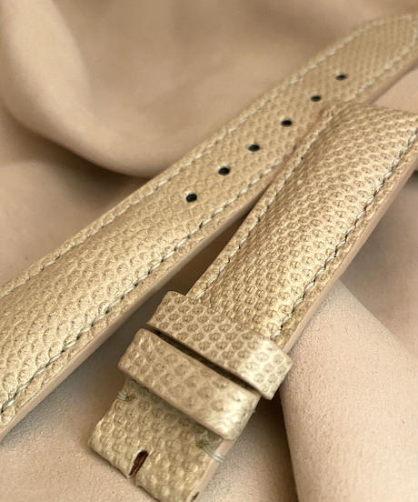 liz-106 リザード レザー 腕時計 ベルト ベージュ (ラグ幅21mm - バックル幅18mm)