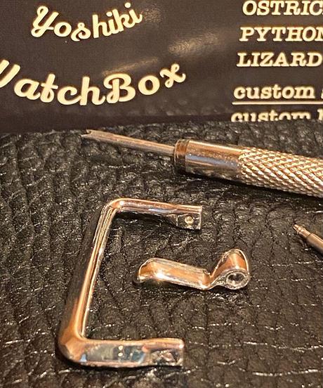 シルバー925 腕時計ベルト用 バックル 24mm アンティークレプリカ ars-24