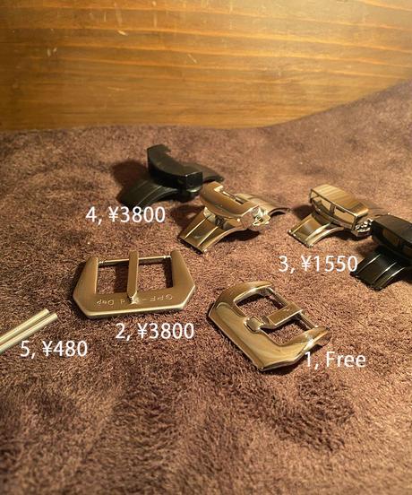 cro-541 クロコダイル レザー 腕時計ベルト ライトレッド (ラグ幅22mm - バックル幅20mm)