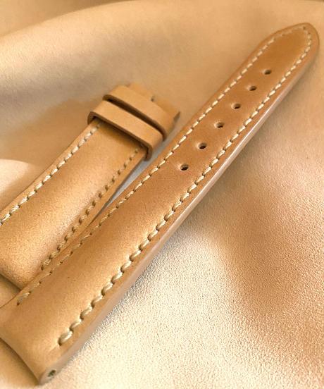 cod-47 コードバン レザー 腕時計ベルト ベージュ (ラグ幅20mm - バックル幅18mm)