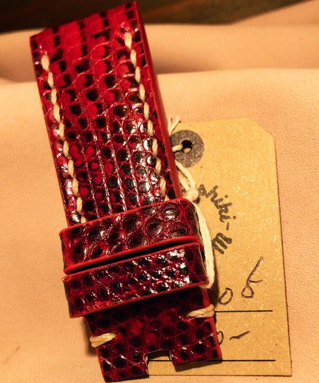 リザード レッド 24mm-22mm LIZ-05