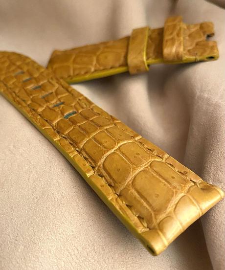 クロコダイル レザー 腕時計ベルト タンブラウン (ラグ幅24mm - バックル幅22mm) cro-512