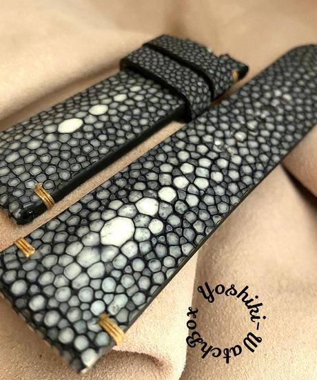 スティングレイ  腕時計ベルト ブラック (ラグ幅24mm - バックル幅22mm)  sti-29