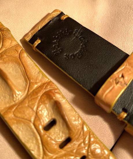 クロコダイル 腕時計ベルト タンブラウン 22mm-22mm CRO-300