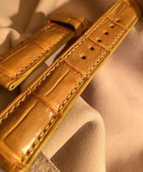 クロコダイル レザー 腕時計ベルト タンブラウン 20mm-18mm CRO-266