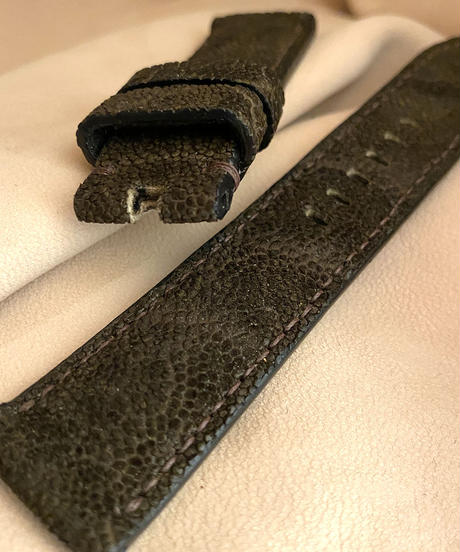 ele-31 エレファント  腕時計ベルト ダークブラウン (ラグ幅22mm - バックル幅20mm)