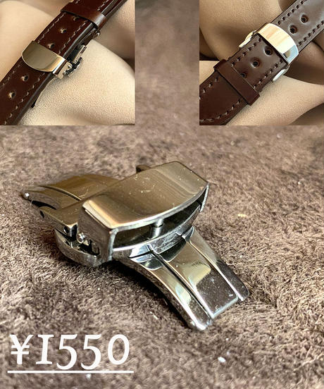 cod-53 コードバン レザー 腕時計ベルト グリーン (ラグ幅20mm - バックル幅18mm)