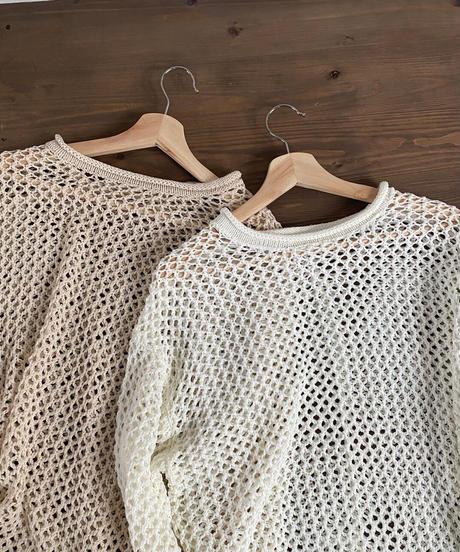 mesh knit tunic
