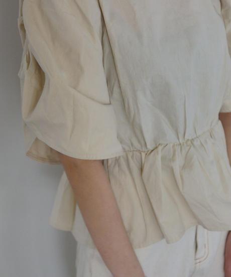 gathered sleeves blouse