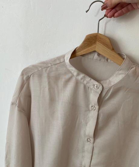 beige sheer shirt