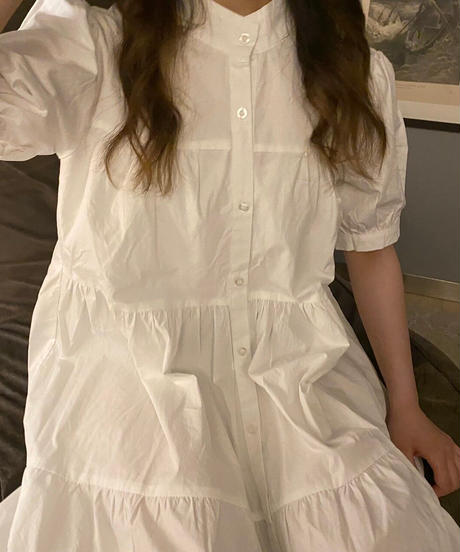 tiered long onepiece white