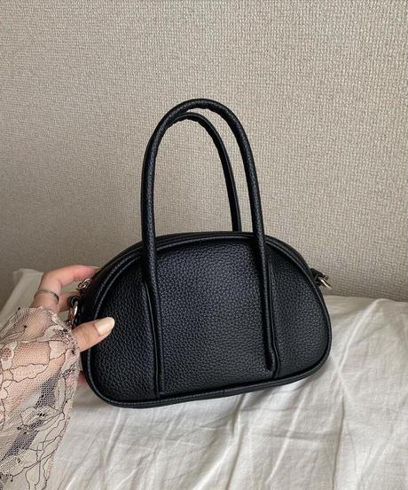 mini boston shoulder bag (black)