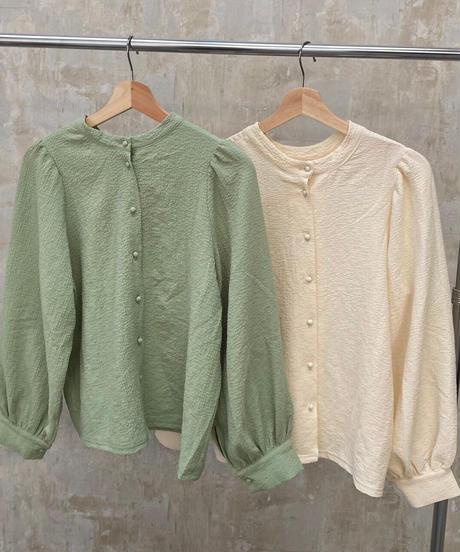 2way blouse green