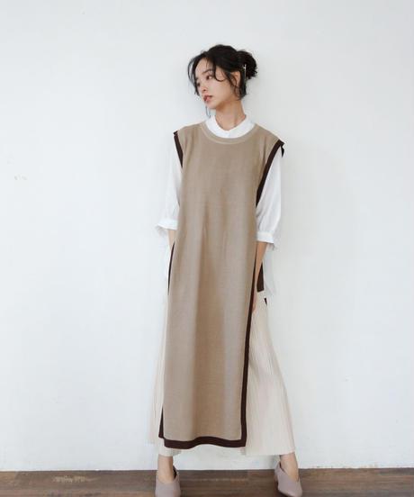 knit long vest