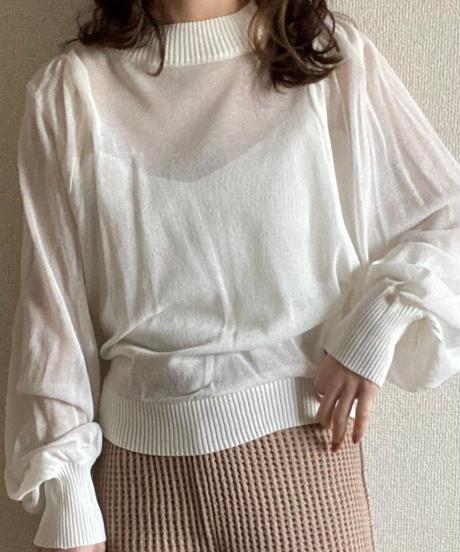sheer knit cami set