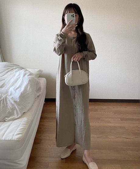 shirring 2way dress