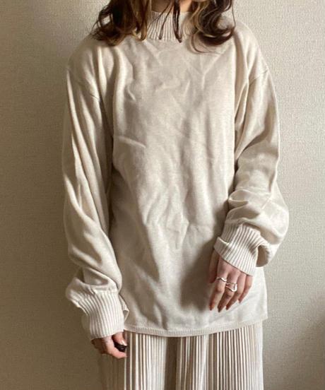 knit bustier set ivory