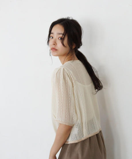 lace piping blouse