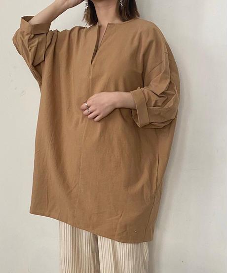 linen keyneck tops