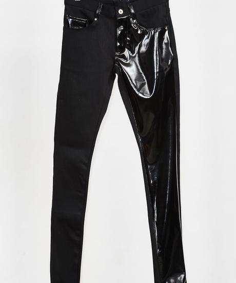 ys Yuji SUGENO (イース ユウジ スゲノ)  210340504-BLACK / Enamel changing stretch skinny denim pants