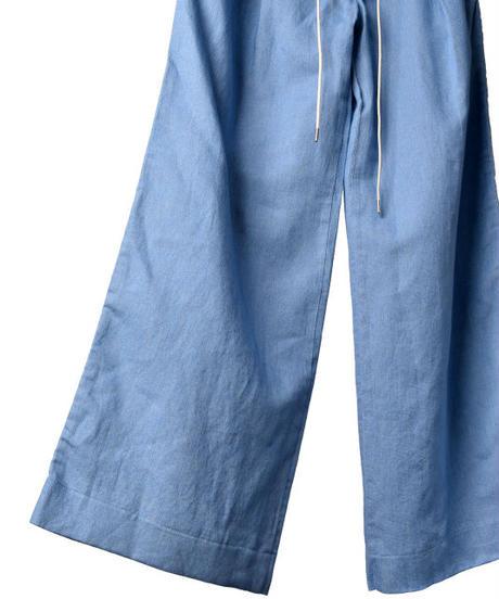 Bennu (ヴェンヌ)110540503  / Cotton/Linen denim 2-tuck wide pants
