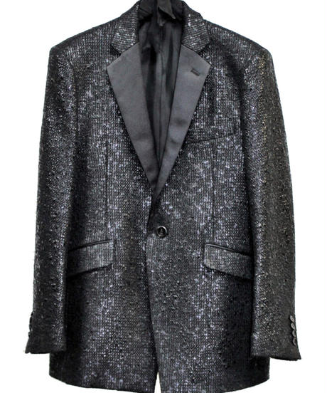 ys Yuji SUGENO (イース ユウジ スゲノ) 210831002 / Black Foil Tweed Notch lapel Jacket
