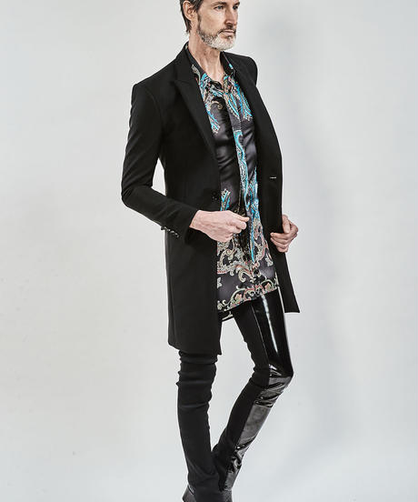 ys Yuji SUGENO (イース ユウジ スゲノ) 210331002-BLACK / Tuxedo cross chester jacket