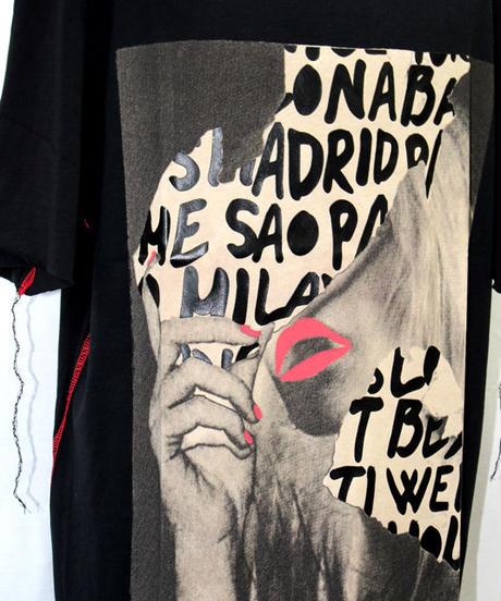 Bennu (ヴェンヌ)420610101 /『gene par YUKIO MISHIBA』Collaboration Cut-off Print Tee shirts