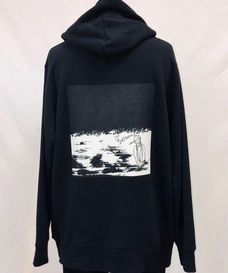 Bennu (ヴェンヌ)120810103/ Bennu Illustration Print Big Hoodie