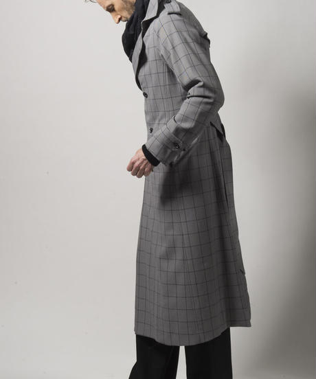 Bennu(ヴェンヌ)  110601107 / TRABEST Long Trench Coat-GRAY