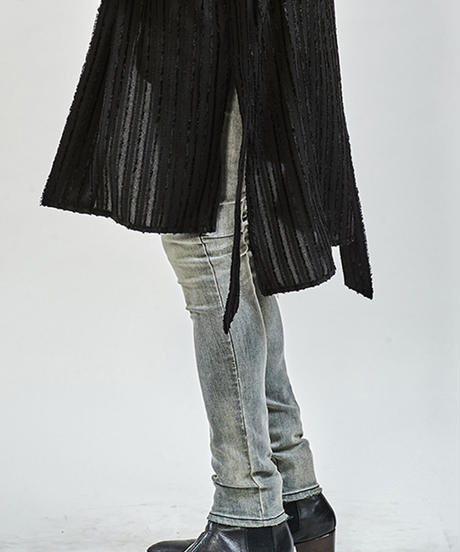 ys Yuji SUGENO (イース ユウジ スゲノ)  210340503-GRAY / Hybrid Stretch USED Skinny Denim Pants