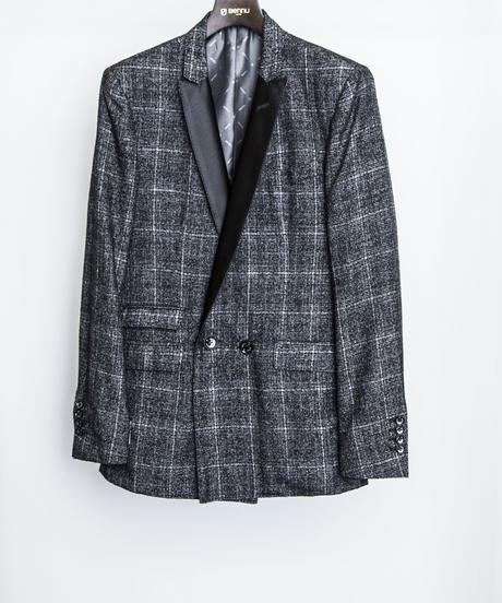 Bennu(ヴェンヌ)  110231001 / Bright Check Double Brest Jacket