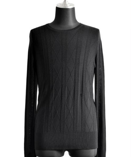 Bennu (ヴェンヌ)110320108 / RT Silk jacquard Knit CN-PO