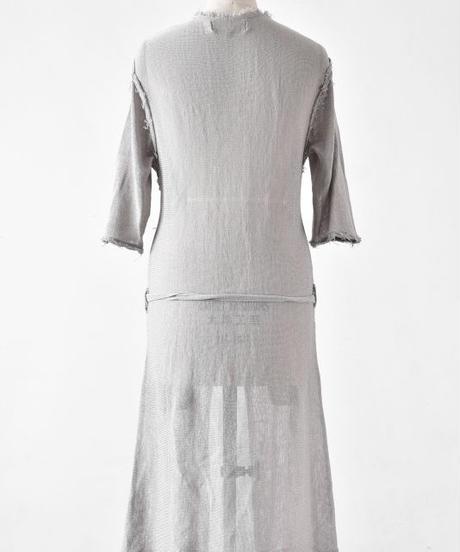 Bennu (ヴェンヌ)110510301/ Cut off long Knit Gown-L.BEIGE
