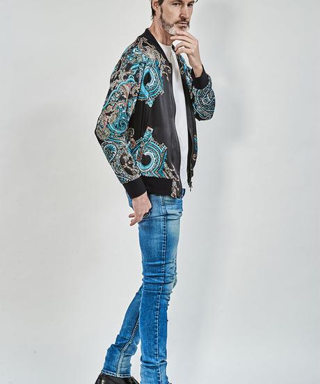 ys Yuji SUGENO (イース ユウジ スゲノ) 210330901 / Panel print zip blouson
