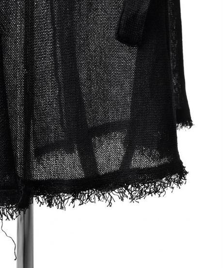 Bennu (ヴェンヌ)110510301/ Cut off long Knit Gown-BLACK