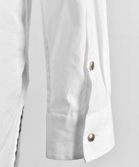 Bennu (ヴェンヌ)110330405 / 100'S Broad Stand Collar Zip Long Shirt-BLACK