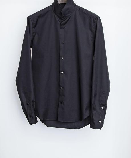 Bennu (ヴェンヌ)110330403 / 100'S Broad Stand Collar Dress Shirt-BLACK