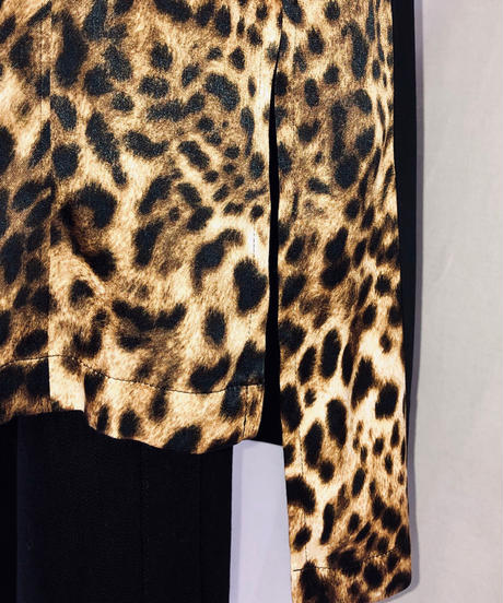 Bennu(ヴェンヌ)  420830601 / Leopard Pattern Crazy Pattern Long Shirt