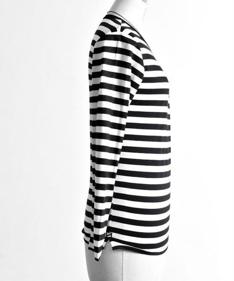 Bennu (ヴェンヌ) 110210113 / GIZA L/C Boarder Long Sleeve T-shirt