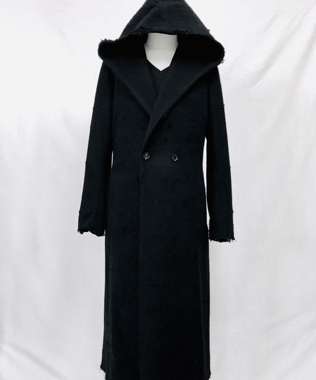 Bennu(ヴェンヌ)  410831101/ RESURRECTION Collaboration  Crash Semi double Hooded long Coat