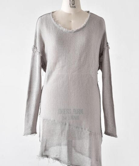 Bennu (ヴェンヌ)110510101/ Cut off long U/N PO Knit-L.BEIGE