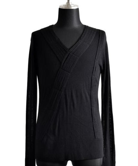 Bennu (ヴェンヌ) 110320107 / RT Silk Knit loop tack V-PO-BLACK