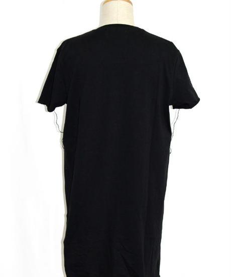 Bennu (ヴェンヌ)420610102/ 『gene par YUKIO MISHIBA』Collaboration Cut-off Asymmetry Tee shirts