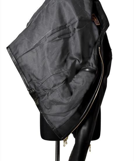 Bennu (ヴェンヌ) 110450902 / Heavyweight Wool Sheep Short Collar Riders Jacket
