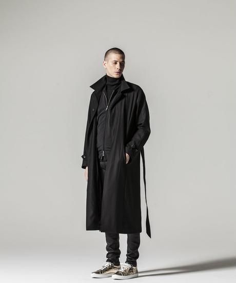 Bennu (ヴェンヌ)110431101 / Tuxedo cross embroidery sten color coat