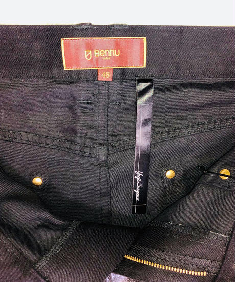 ys Yuji SUGENO (イース ユウジ スゲノ) 210840503 / Black foil Stretch denim 5P Skinny Denim