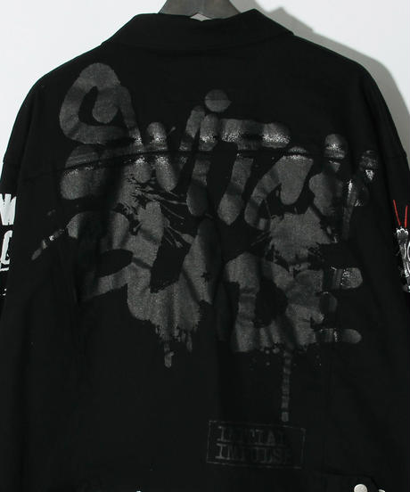 SWITCHBLADE (スウィッチブレード)1001302 / GRAPHIC PRINT DENIM JK-BLACK