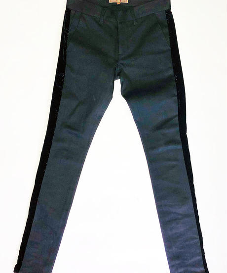 Bennu(ヴェンヌ)  120840503 / Velvet line Stretch Denim Pants